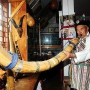 Lapon Sonam Tshering Lepcha at his museum at Kalimpong 2012__Nopl